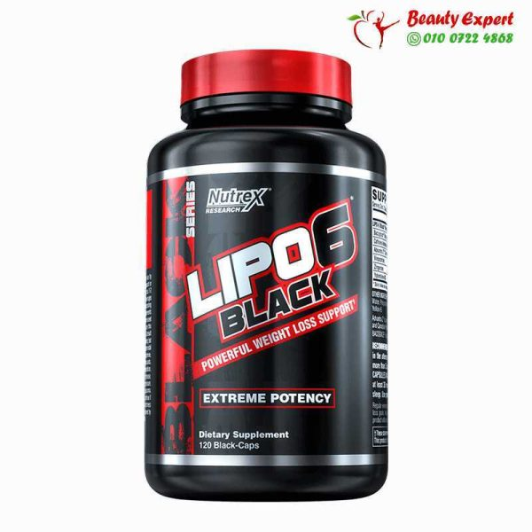 Lipo-6 Black, Extreme Potency, Weight Loss, Nutrex Research, 120 Black-Caps