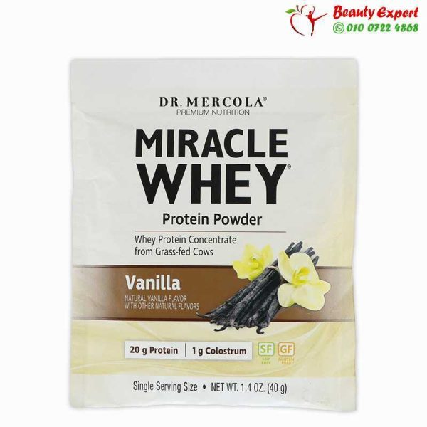 Miracle whey protein powder, 1 serving pack, 40 g